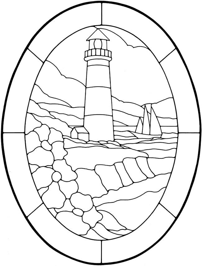 650x858 Nautical Designs Stained Glass Pattern Book Dover Publications