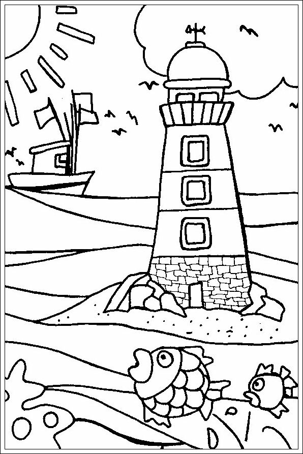 596x893 Vuurtoren Tengeres Lighthouse, Embroidery And Craft
