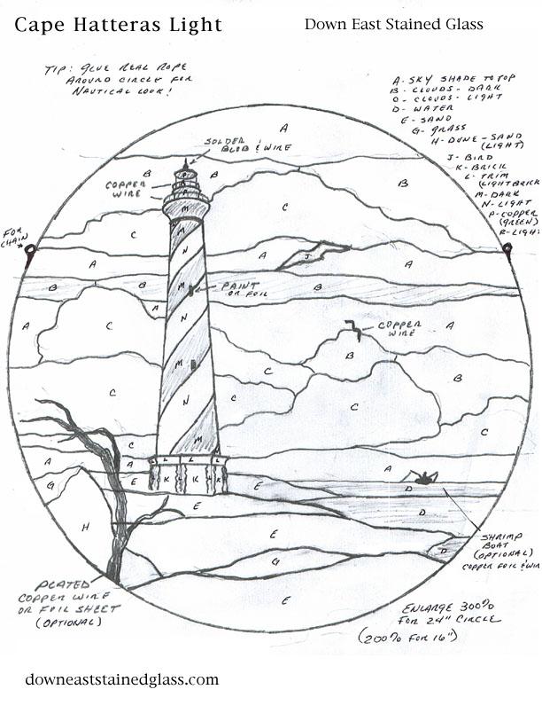 612x804 Ocean Lighthouse Template