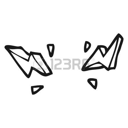 450x450 Freehand Drawn Cartoon Lighting Strike Symbol Royalty Free