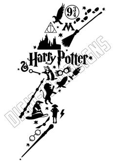 236x334 Iron On Harry Potter Lightning Bolt Glasses Logo Harry Potter