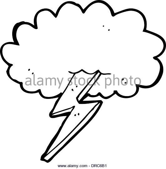 531x540 Cartoon Lightning Bolt Cloud Stock Photos Amp Cartoon Lightning Bolt