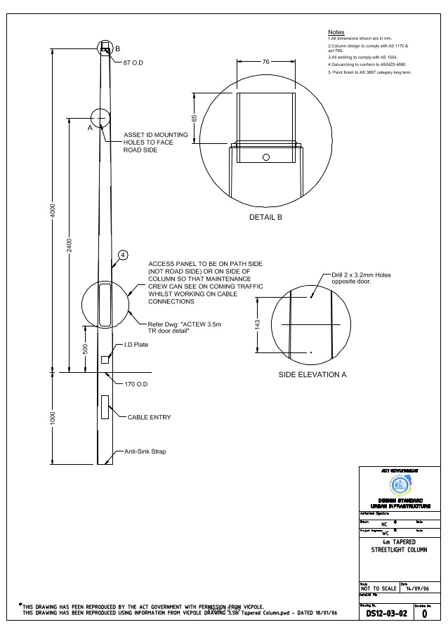 638x903 Street Lighting Section 12 Drawings