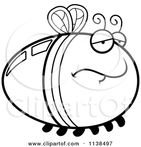 450x470 Cartoon Clipart Of An Outlined Hungry Firefly Lightning Bug