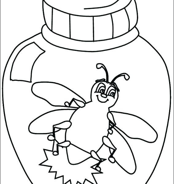 567x600 Bug Coloring Sheets