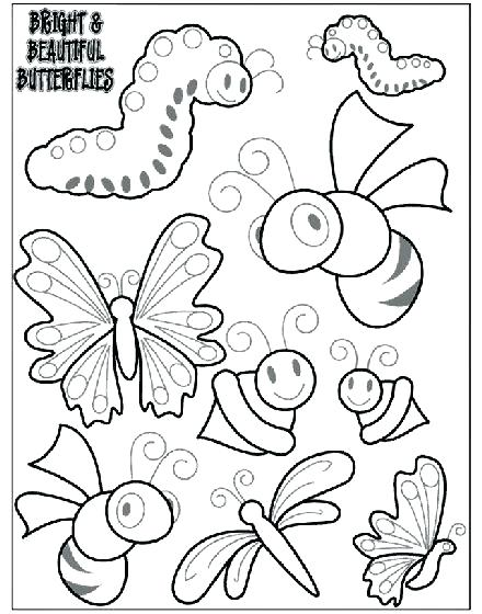 440x560 Bugs Coloring Page Coloring Page Bugs Printable Bug Coloring Page