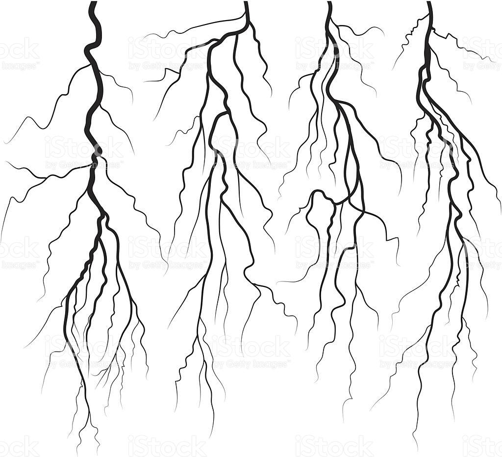 1024x932 Lightning Drawing