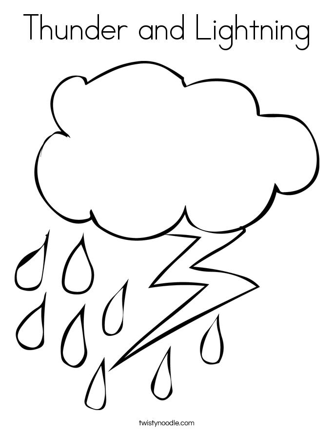685x886 Thunder And Lightning Coloring Page