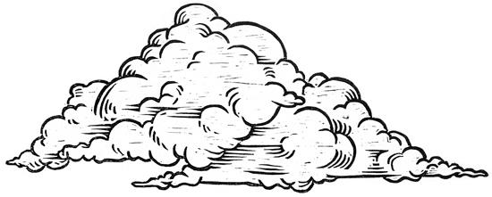 550x221 Drawn Clouds Thunder