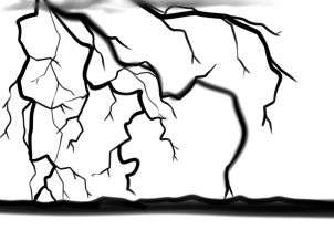 Lightning Strike Drawing