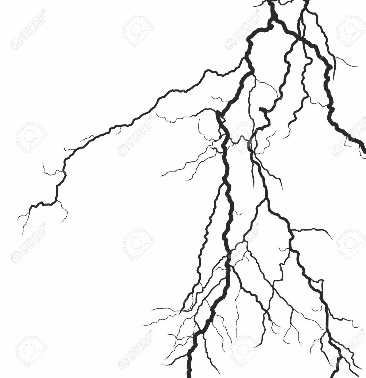 1258x1300 Lightning Stroke In The Sky. Royalty Free Cliparts, Vectors,