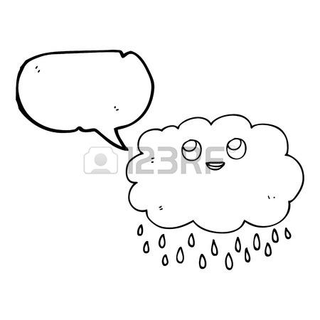 450x450 Freehand Drawn Speech Bubble Cartoon Thundercloud Lightning Strike