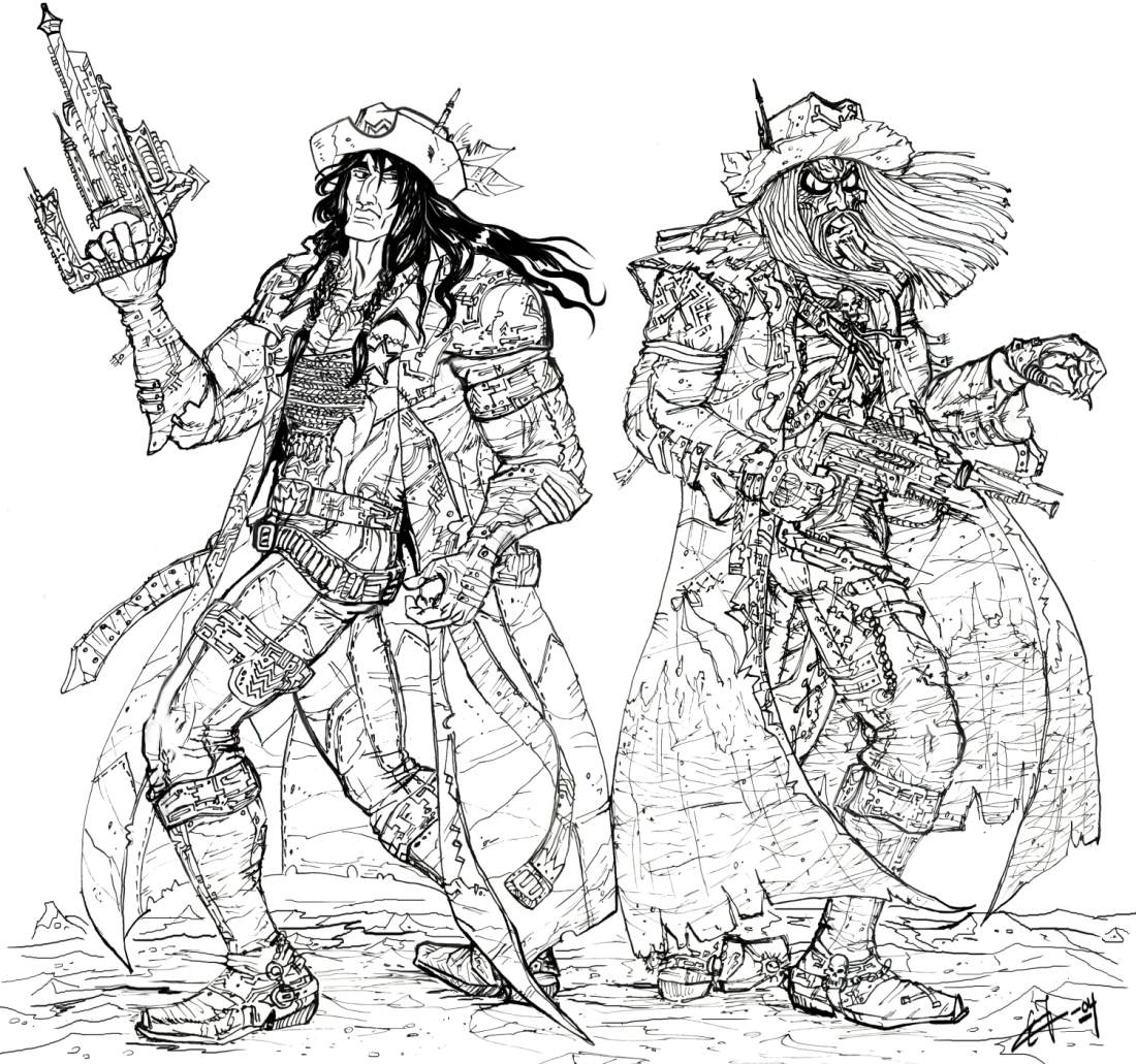 1100x1031 Bravestarr And Tex Hex Lineart By Zorm