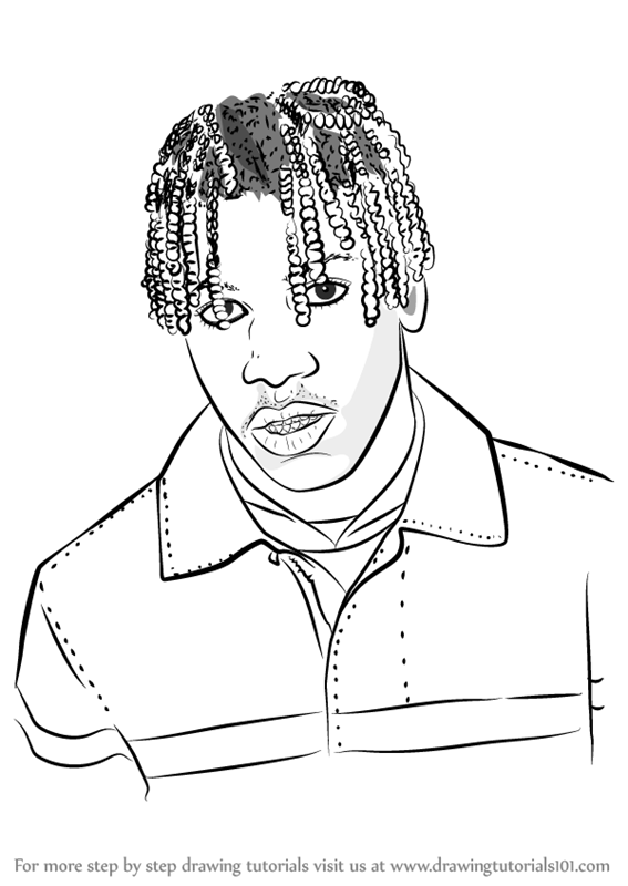 567x800 Learn How To Draw Lil Yachty (Rappers) Step By Step Drawing