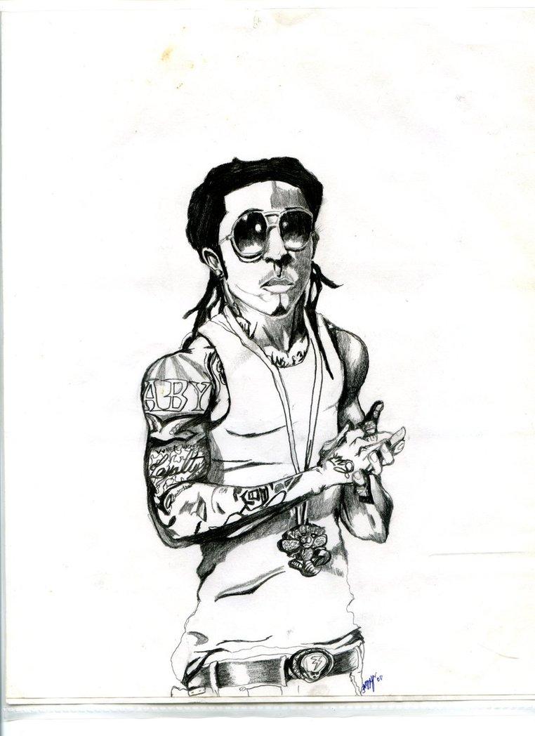 762x1048 Lil Wayne By Gangstaart