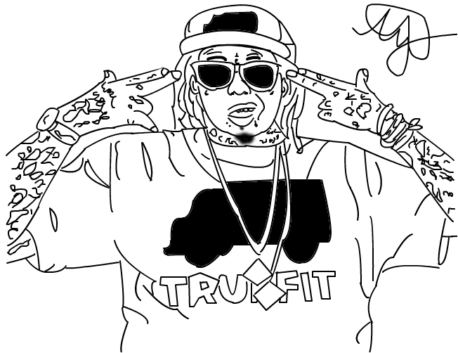 Lil Wayne Coloring Pages