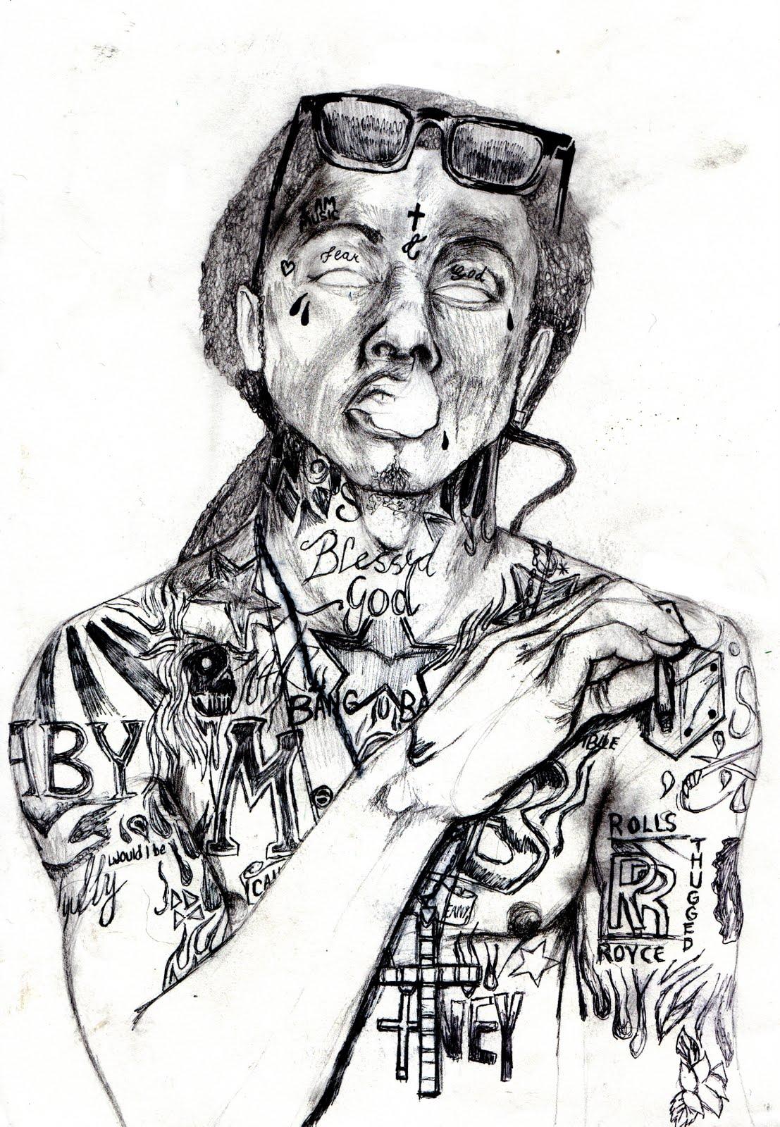 1107x1600 Charlie Rallings Illustration In Progress Lil Wayne