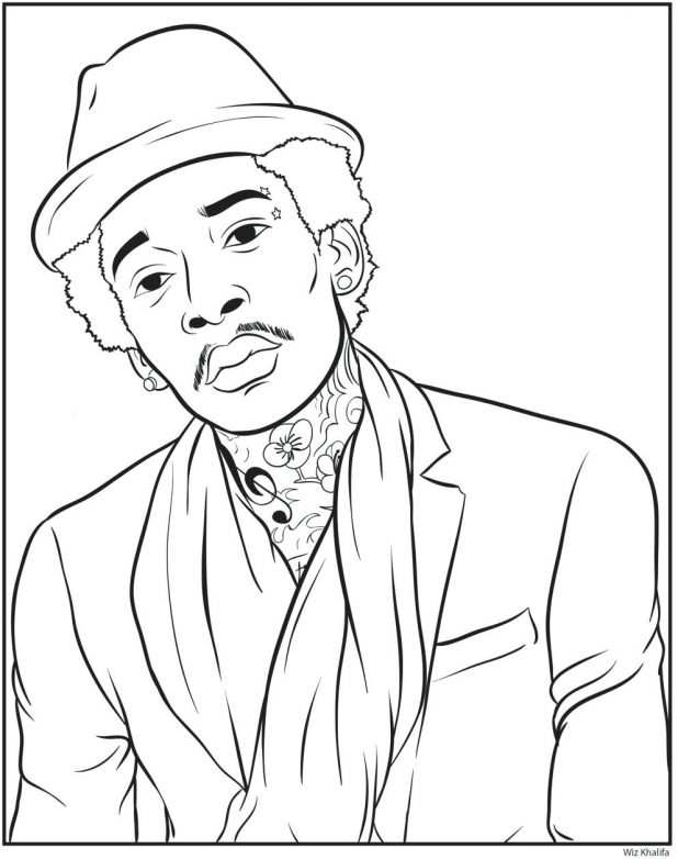 618x782 Fascinating Lil Wayne Coloring Pages 27 On Coloring Books With Lil