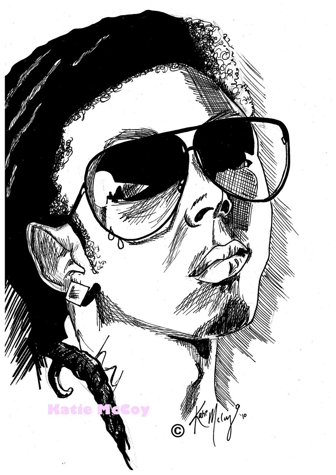 1132x1600 Katie Lee Lil Wayne Drawing