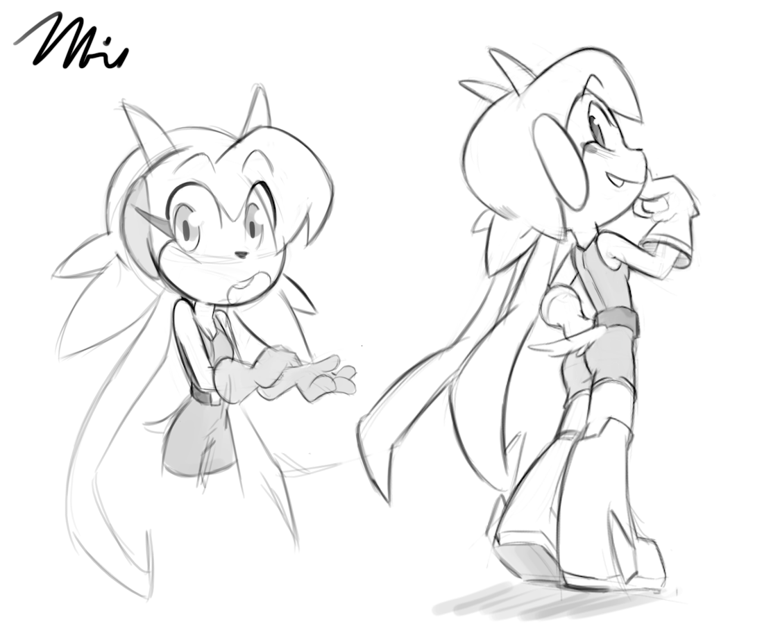 1111x909 Mike's Scibbles It's Lilac From Freedom Planet! I Kinda Went