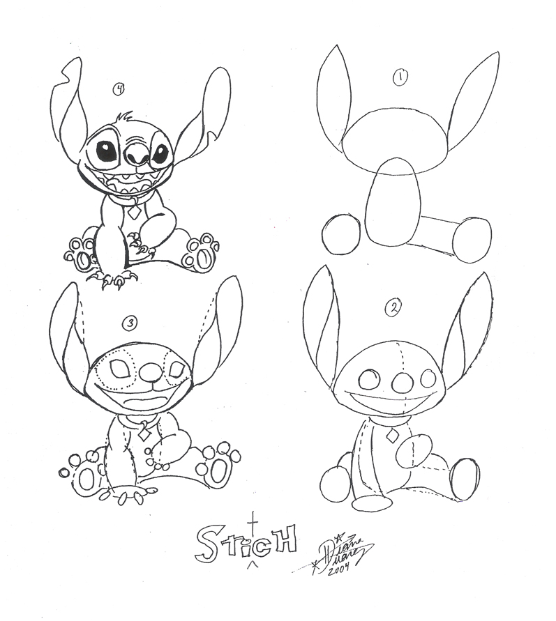 Lilo Stitch Drawing