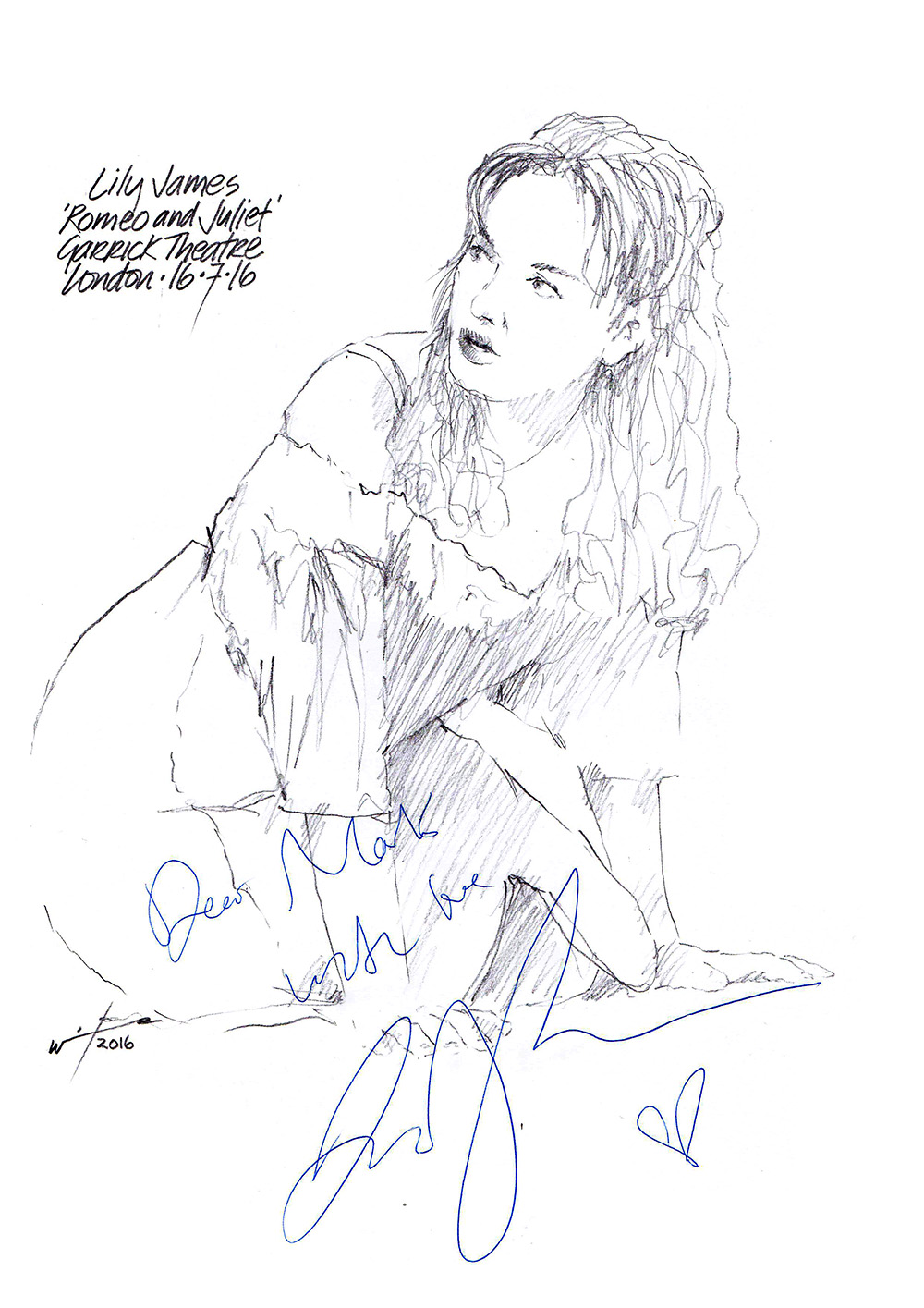 1000x1415 Drawing Lily James As Juliet Chicanepictures