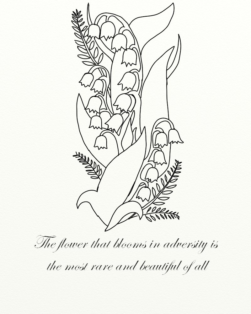 Lily drawing tattoo at getdrawings free for personal use lily 800x1000 lily of the valley tattoo by jadedruid87 on deviantart izmirmasajfo