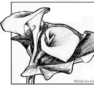 300x300 Melody Lea Lamb's Art Free Flower Design Art Greeting Card