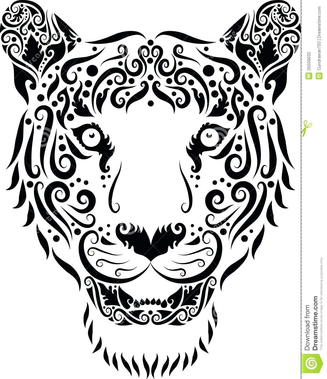 1124x1300 White Tiger Drawing Lily Flower Outline Images Tiger Outline