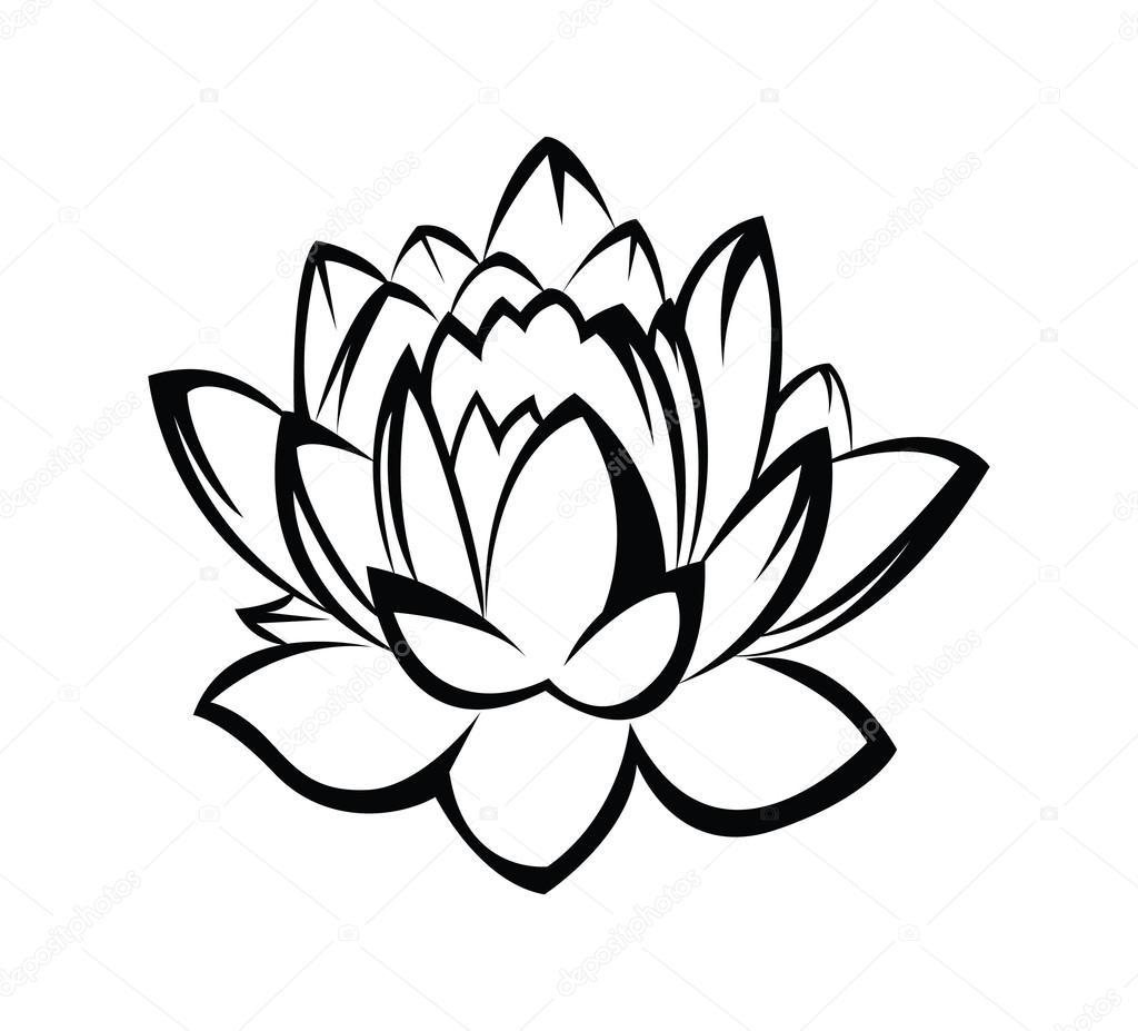 Line Art Sunflower Tattoo Drawing