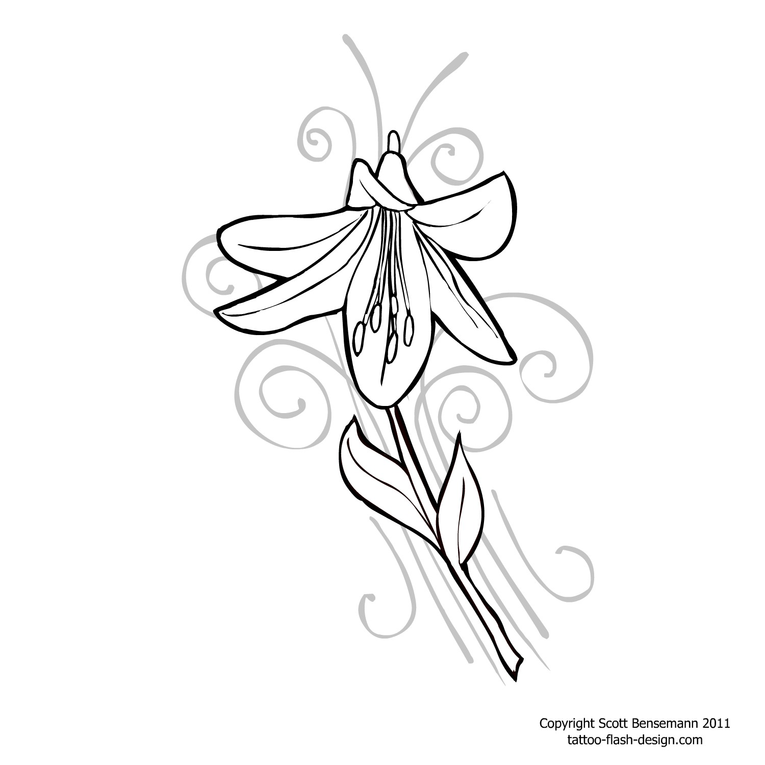 Lily flower tattoo drawing at getdrawings free for personal 1500x1500 tattoo flower orange lily design izmirmasajfo Image collections