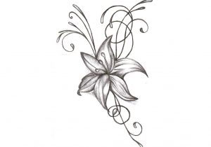 300x210 Lily Flower Tattoo Drawing Lily Flowers Tattoo Drawings Bouquet
