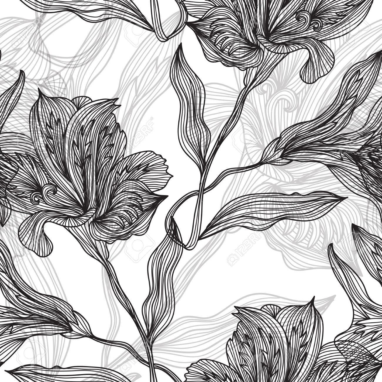 1300x1300 Botanical Illustrations Black And White