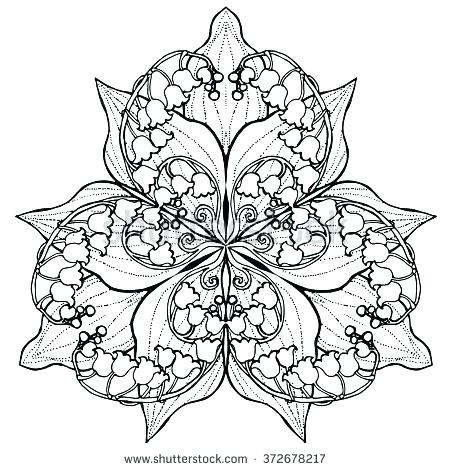 450x470 Flower Mandala Coloring Pages And Mandala For Coloring Lily