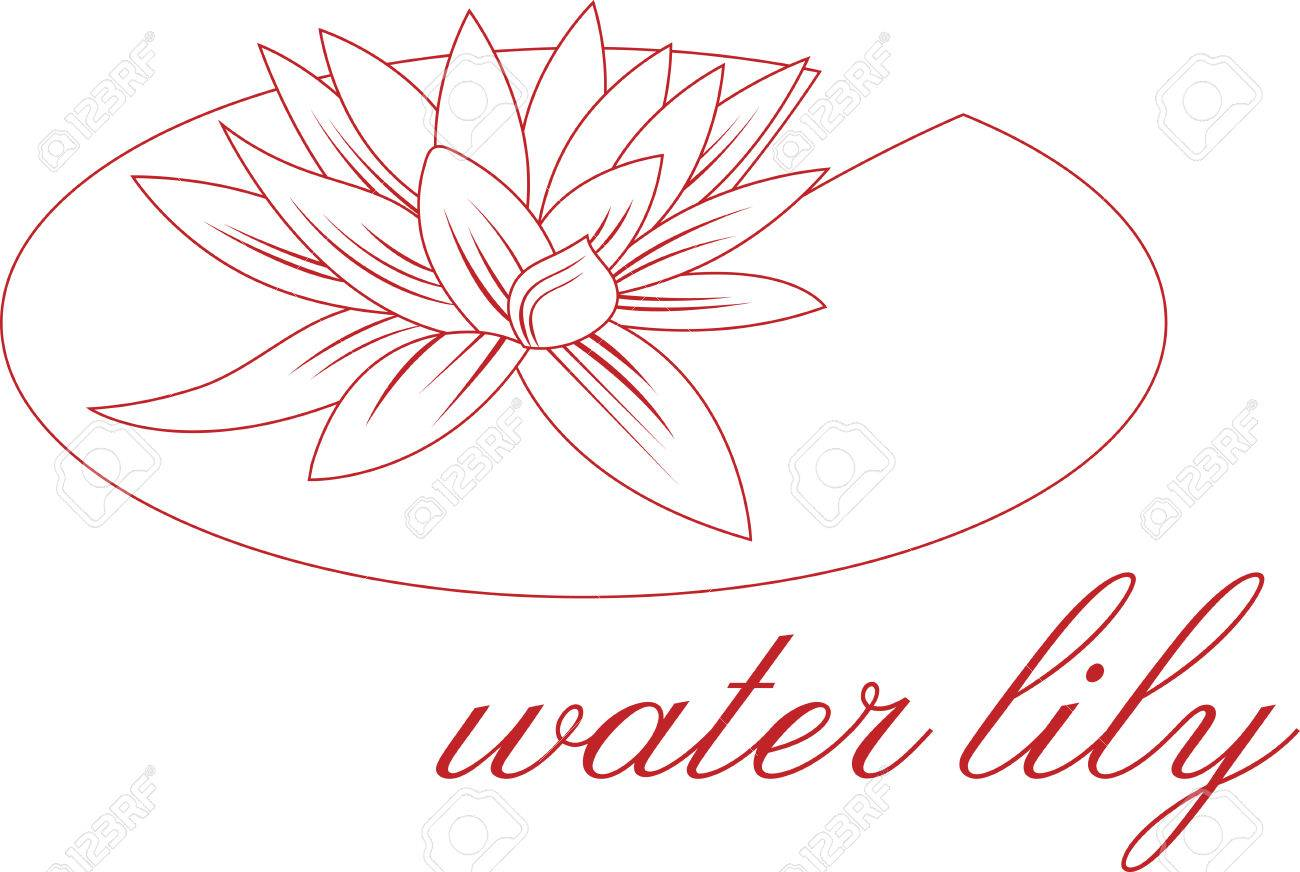 1300x872 This Lily Pad Flower Outline Is Perfect Add A Shirt