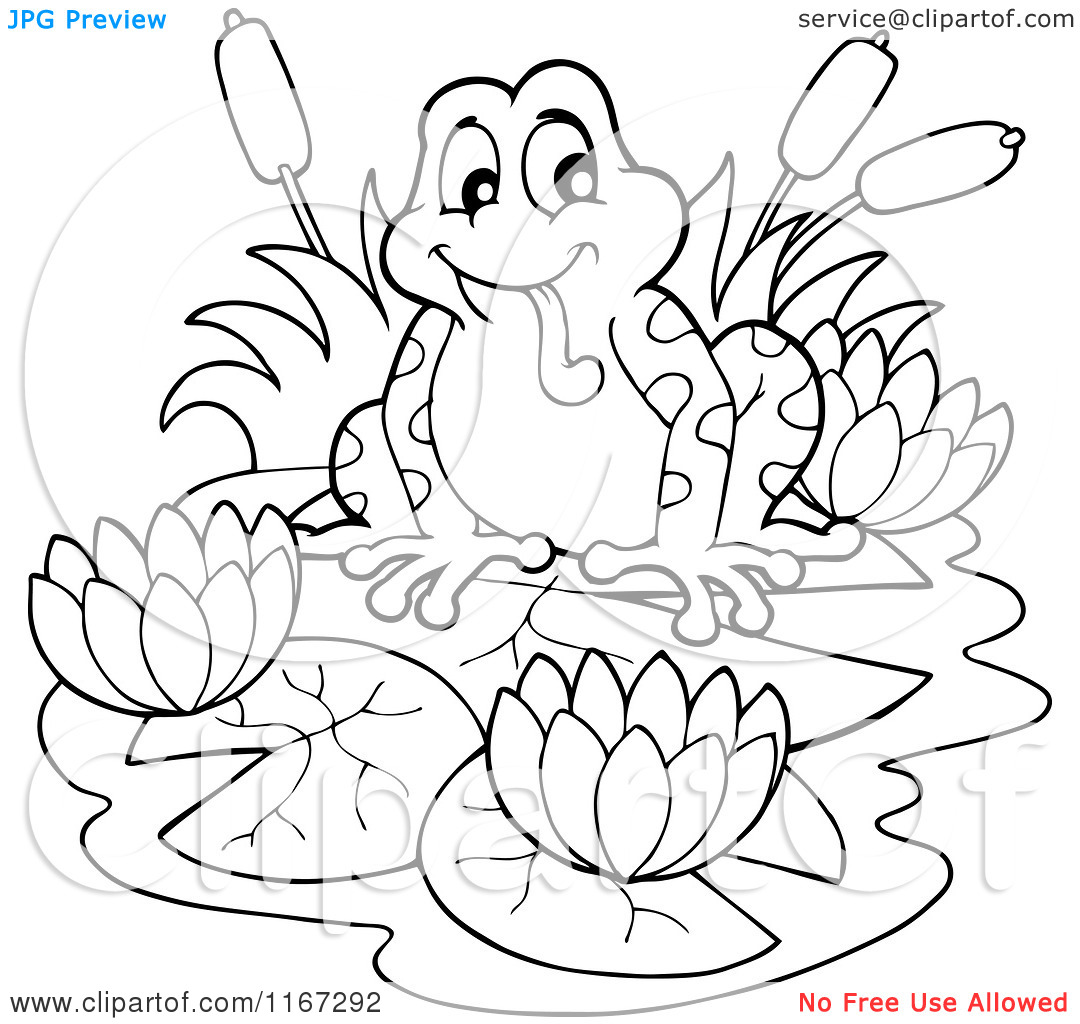 Lily Pads Drawing at GetDrawings.com | Free for personal use Lily ...