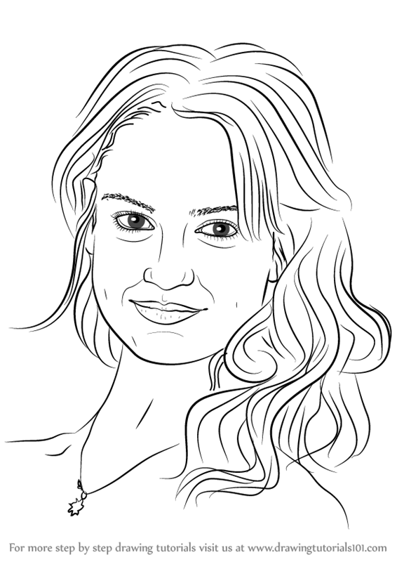 566x800 Learn How To Draw Lily James (Celebrities) Step By Step Drawing