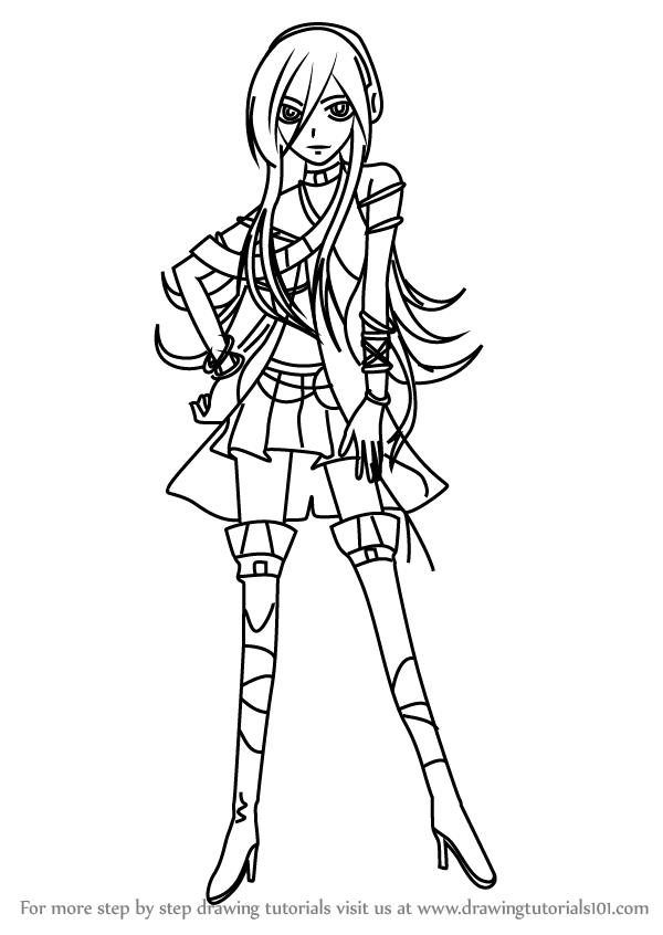 600x846 Learn How To Draw Lily From Vocaloid (Vocaloid) Step By Step