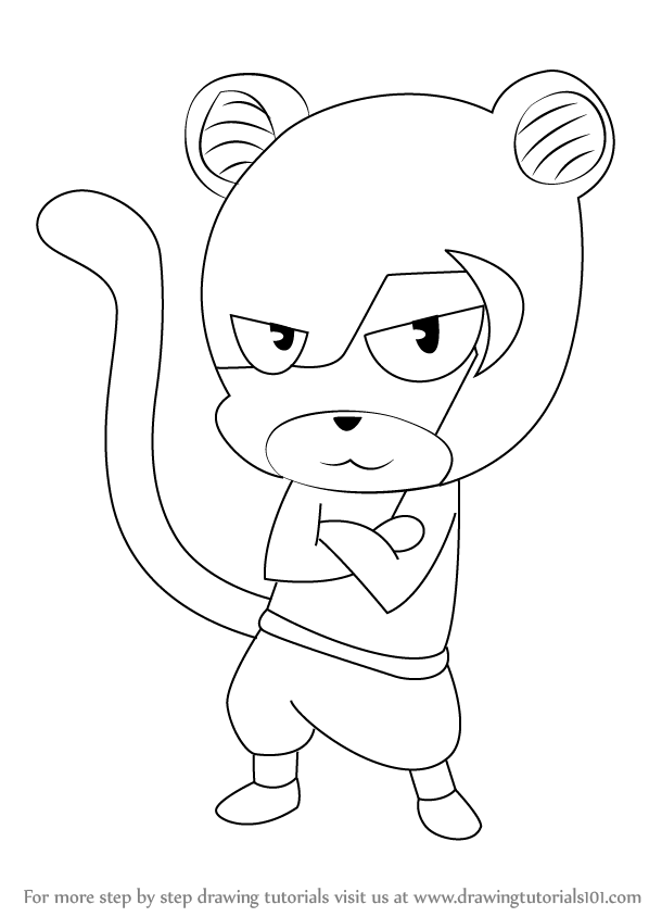 598x844 Learn How To Draw Panther Lily From Fairy Tail (Fairy Tail) Step