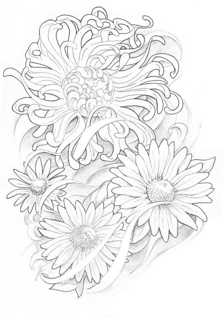 720x1024 Flower Tattoo Drawings May Birth Flower Tattoos