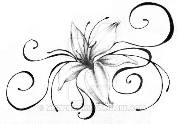 600x403 Lily Tattoo By Meripihka
