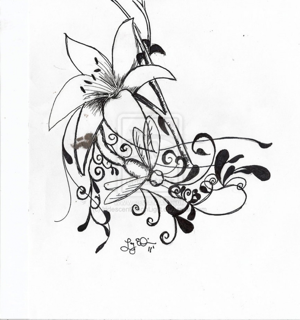 960x1024 Lily Tribal Tattoos Tribal Lily Tattoo Sketch Fresh 2016 Tattoos