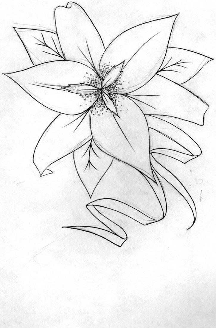 725x1103 Lily Tattoo Design By Tattoo Vandal