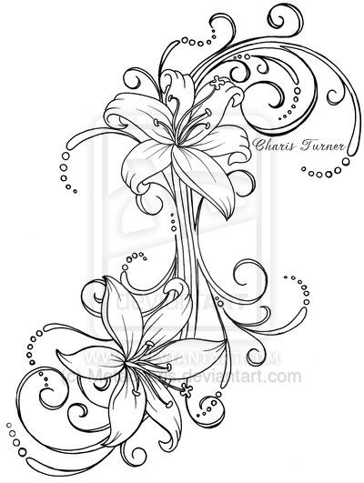 400x531 Small Lily Tattoo On Rib For Women
