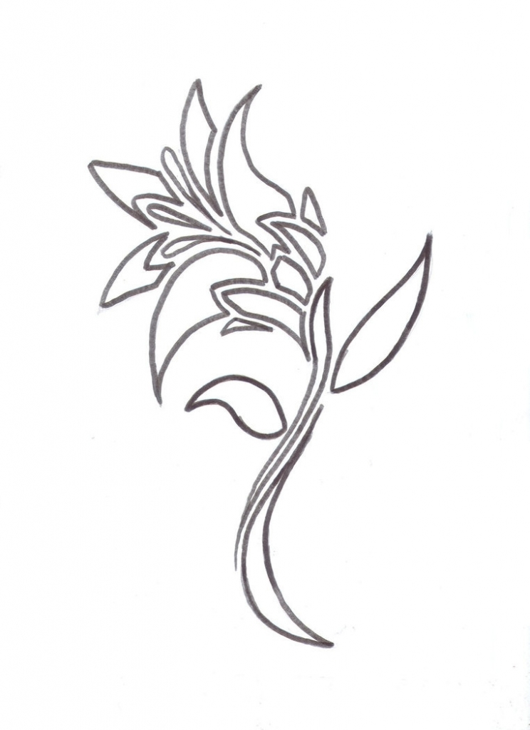744x1024 Cool Flower Tattoo Designs Uncommon Black Lily Tattoo On The Hip