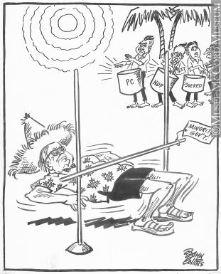 311x385 M965.199.961 Doing The Limbo. Drawing, Cartoon John Collins