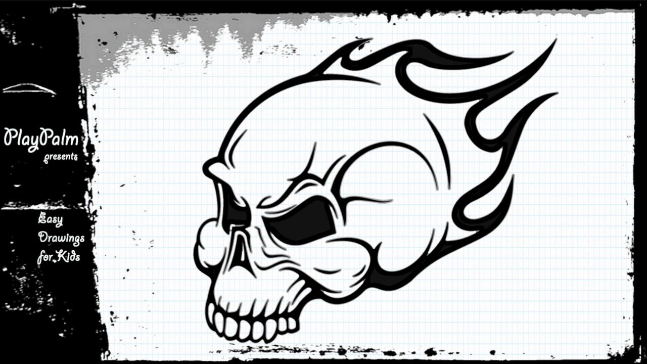 1280x720 Draw Skull On Fire