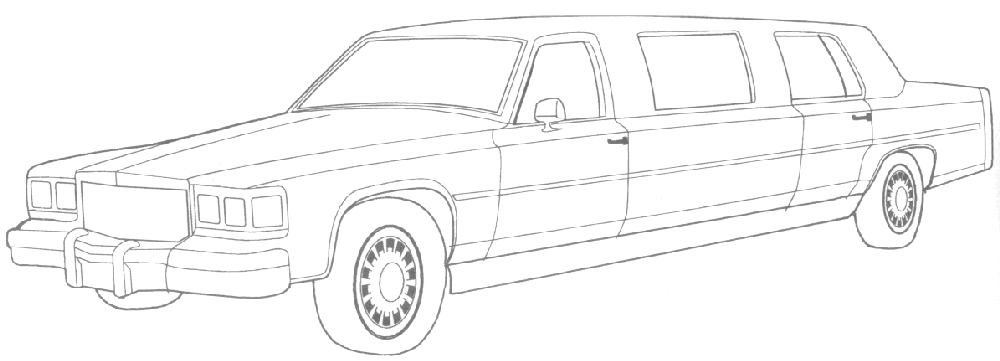 1000x361 Limo Coloring Pages Limo Coloring Pages For Kids