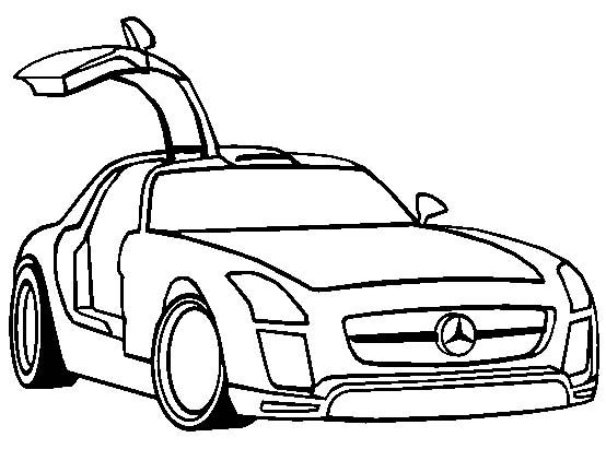554x411 Mercedes Sls Amg Gt3 Coloring Page