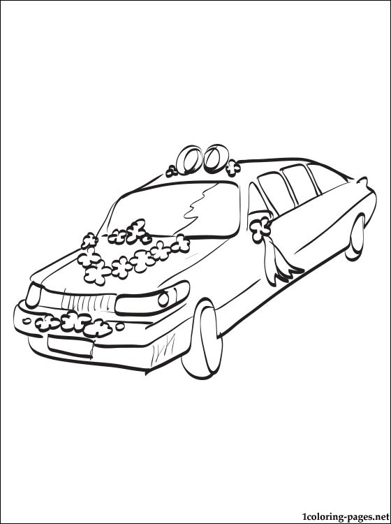 560x750 Wedding Limousine Coloring Page Coloring Pages